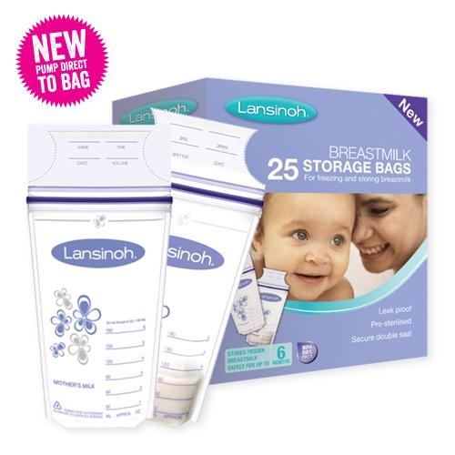 New25 PACK Lansinoh breastmilk storage bags